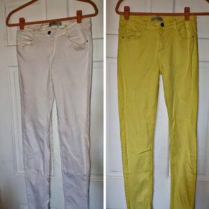3 pair of Zara skinny jeans